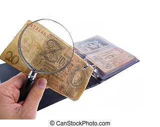 Banknote Collection - conceptual studio isolated photo