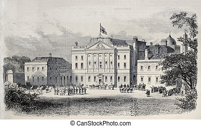 Powerscourt castle, Ireland, in occasion of Prince of Wales...