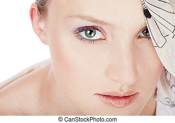 Beautiful girl - Close-up portrait of girl with beautiful...