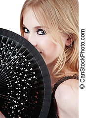 Girl with fan
