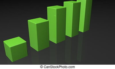 Success chart  - 3d chart bars