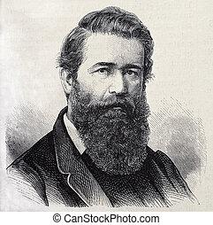 Antonino Taboada - Old engraved portrait of General Antonio...