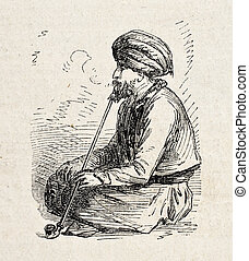 Erzurum Turkish man - Old illustration of Erzurum Turkish...