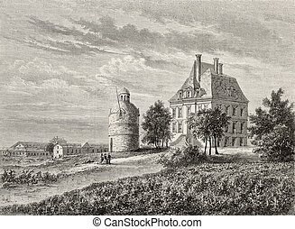 Chateau La Tour - Antique illustration of Chateau La Tour...