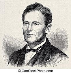 Manuel Taboada - Old engraved portrait of Manuel Taboada,...