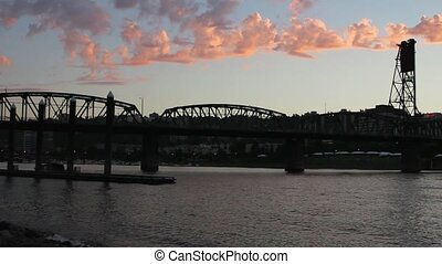 Sunset at Portland Oregon 1080p