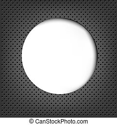 Grey Metal Background With Speech Bubble