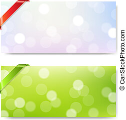 Banner With Ribbon And Bokeh