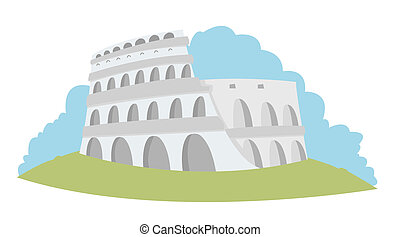 Colosseum - Rome - illustration representing the Roman...