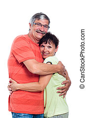 Happy middle aged couple in love - Portrait of happy middle...