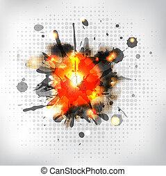 Burning Sparkler, Isolated On White Background, Vector...