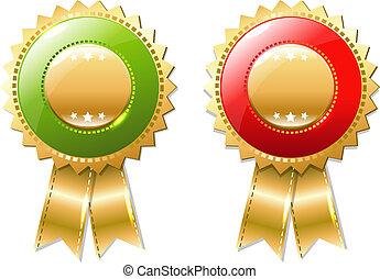 Gold Badges Set