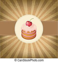 Retro Label With Cupcake