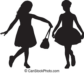 Silhouettes of kids - Kids fashion