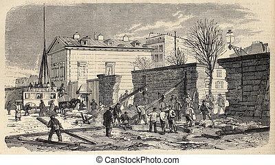 Paris surrounding walls destruction
