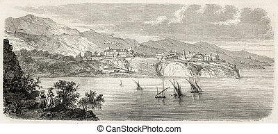 Principality of Monaco - Antique illustration of...