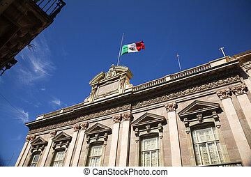 Flag Building Mexico
