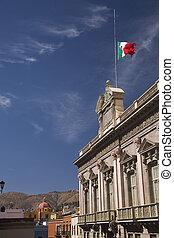 Building Flag Mexico