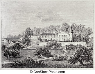 Chateau Lafite - Antique illustration of Chateau Lafite...
