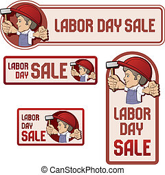 Banner for Labor day sale - Banner for Labor day sale with...
