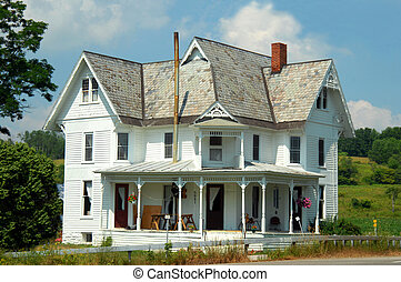 Home Sweet - Old Victorian Farm House is painted white...