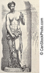 Sculpture - Antique illustration of a decorative Statue by...