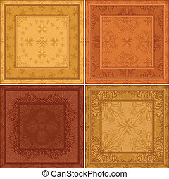 Abstract pattern, background tile, set