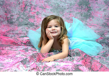 Beautiful Fairy - Beautiful fairy has landed on a bed of...