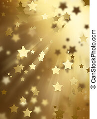 golden stars - abstract background with golden stars