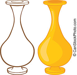 Vase. Color and contour illustration