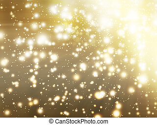 golden glow - abstract background with golden glow