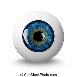 eyeball with shadow on white background