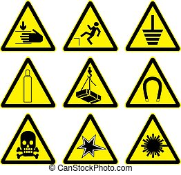 Set of warning signs 1