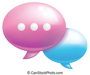 Chat icon - Isolated illustration  Chat  icon