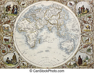 Hemisphere oriental - Old map of Hemisphere oriental Created...
