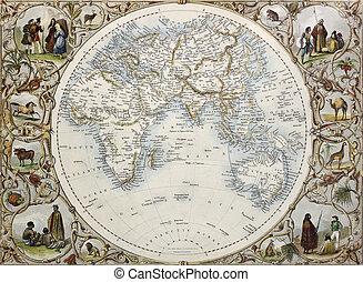 Hemisphere oriental - Old map of Hemisphere oriental....