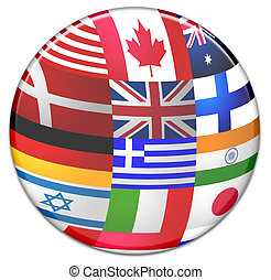 Sphere from country flags - Sphere made from country flags...