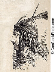 Persian ter - Antique illustration shows image of Persian...