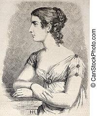 Stephanie de Behauernais, Grand Duchess of Baden - Antique...