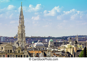Brussels city view - BRUSSELS - SEPTEMBER 3: Brussels city...