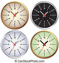 Set of metal clock