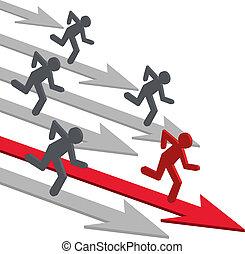 competição, pessoas, vetorial