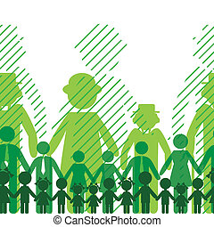 Ecology family background. - Ecology icon, family...