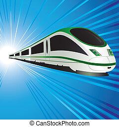 alta velocidade, trem
