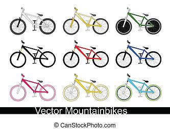 mountain bikes - Vector illustration