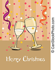 Champagne. Merry Christmas