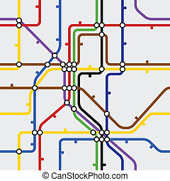 Seamless background of metro scheme
