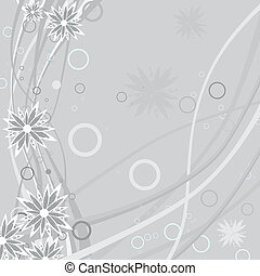 Floral background with grunge flower