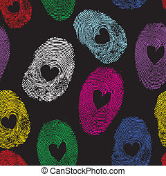 Vector heart - Seamless vector thumb print heart, man or...
