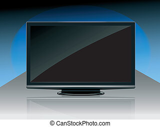 modern High Definition tv-set